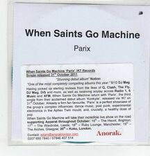 (ER641) When Saints Go Machine, Parix - 2011 DJ CD