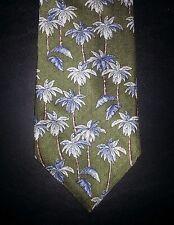 Green Tan Blue Palm Trees NIB CROFT & BARROW Silk Tie! t2197