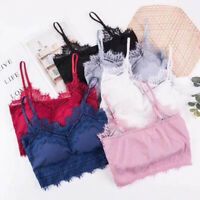 Women's Seamless Lace Tube Bra Soft Push Up Brassiere Underwear Tank Top CamiBB