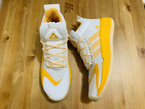 Adidas Pro Boost Mid basketball shoes yellow white FX9206 NWOB size 13