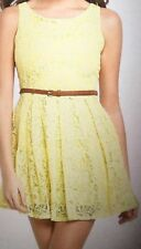 Glamorous Yellow Lace Skater Dress Size 14 BNWT