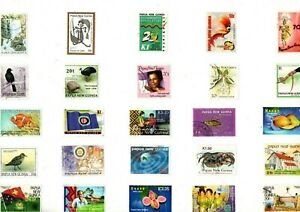 A MIX OF 25 DIFFERENT GOOD/FINE USED COMMEMORATIVE STAMPS FROM PAPUA NEW GUINEA
