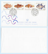 Cyprus 1993 #817-20 Fish Marine Life First Day Cover FDC