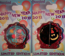 Disney pin DLR Happy New Year 2012-2013 Cheshire Cat Pin LE2000