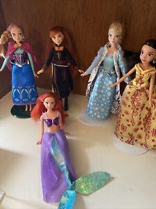 barbie mixed lot dolls mattel Used CLEAN PRINCESS DISNEY anna elsa ariel sophia