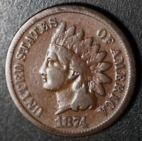 1874 INDIAN HEAD CENT With LIBERTY - FINE