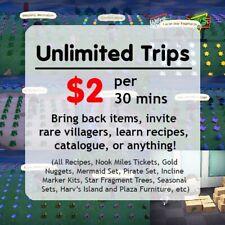 30mins of Unlimited Trips - Animal Crossing: New Horizons Treasure Island Buffet