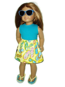 """Fun in the Sun 4 piece Outfit fits American Girl 18"""" Doll Clothes"""