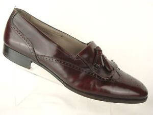 Florsheim Royal Imperial Wing tip Tassel Kiltie Brogue Loafer US 10 D Italy