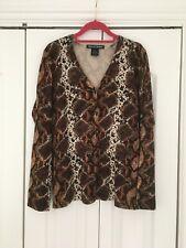 Nina Leonard snake print cardigan size XL/18 NEW