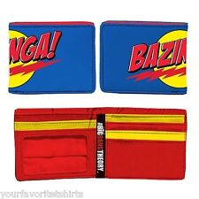 The Big Bang Theory Blue Bazinga! Logo Sheldon Cooper Bi Fold Wallet