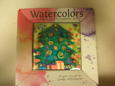 Set of 4 Art Glass Christmas Tree Coasters