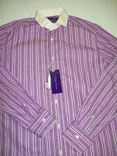 Ralph Lauren Purple Label Keaton Collar Striped Dress Shirt NWT 15.5 x 34  $425
