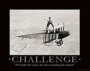 Golfing Motivational Poster Art Print Air Plane Antique Golf Course Wall Decor