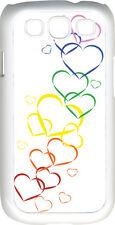 Valentine's Graduating Rainbow Hearts Samsung Galaxy S3 Case Cover