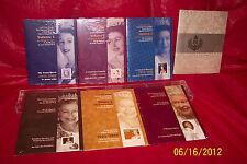 QUEEN ELIZABETH II DIAMOND JUBILEE 2012 CANADA KEEPSAKE FOLDERS VOLUMES 1-6