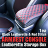 Armrest Center Console Storage Box Leatherette(RED) For KIA 2008 2009-2013 Soul