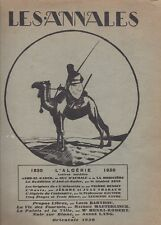 Les Annales politiques et littéraires 1930 - Algérie - Maeterlinck - Peugeot