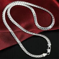925 Sterling Silver 6MM Schlangenkette Halskette 20 Zoll Männer Frauen Schmuck !