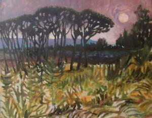 MARGARET HARMSWORTH 1928-2007 Impressionist Sunset Oil Painting BENEZIT LISTED