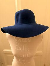 Cappello falda larga blu elettrico AMERICAN APPAREL electric blue large hat