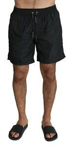 DOLCE & GABBANA Swimshorts Black Beachwear Shorts Mens IT5 / M
