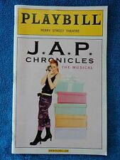 J.A.P. Chronicles - Perry Street Theatre Playbill w/Ticket - May 20th, 2006