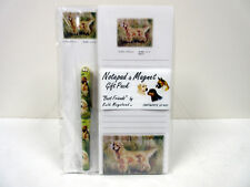 New Golden Retriever List Pad Note Pad Magnet Pen Stationery Gift Pack RGO-9