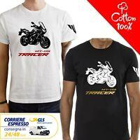 T-Shirt Yamaha MT - 09 Tracer uomo Maglia moto nera cotone 100% maglietta