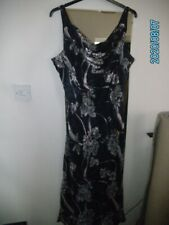 JACQUES VERT LADIES DRESS SIZE 20 NAVY AND PINK USED