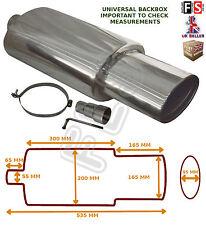 UNIVERSAL STAINLESS STEEL PERFORMANCE EXHAUST BACKBOX - BK15071 – Alfa Romeo