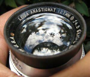 1936 Leica Anastigmat M39 Yellow Dot 127mm f4.5 SM EARLY Wollensak