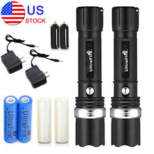 2PCS Military Grade Tactical Police 15000LM Heavy Duty 3W LED Rechargeable Torch