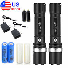 2PC Tactical Police Military Grade 80000LM Heavy Duty 3W LED Rechargeable Torch