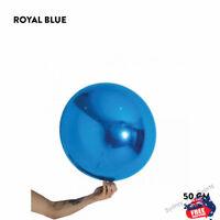 "ROYAL BLUE FOIL BALLOON BALL 20""/50cm ROUND ORBZ WEDDING BIRTHDAY PARTY DECOR"