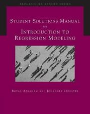 Introduction to Regression Modeling by Johannes Ledolter & Bovas Abraham w/CD