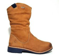 ZEBRA Kids Boots Girls Snow LEATHER Tan Size 1,5 USA/33 EURO.Regular Price $125