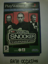 WORLD CHAMPIONSHIP SNOOKER 2005 PS2 PLAYSTATION 2 SONY COMPLET PAL
