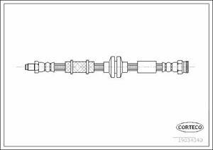 CORTECO (19034340) Bremsschlauch vorne für ALFA