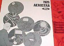 1989 Ford Aerostar Elektrisch Schaltpläne Service Shop Reparatur Manuell Ewd 89
