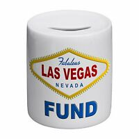 Fabulous Las Vegas Nevada Fund Novelty Ceramic Money Box