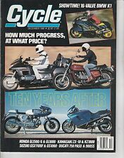 DEC 1988 CYCLE  motorcycle magazine HOW MUCH PROGRESS - TEN YEARS AFTER