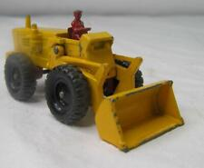 Vintage Lesney Matchbox Aveling Barford Tractor Shovel #43 Die Cast-Yellow-Nice