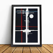 More details for suprematist composition vol.1 by ilya chashnik wall art framed print picture