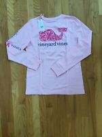 NWT Vineyard Vines Women's LS Breast Cancer Awareness Flamingo T-Shirt Small