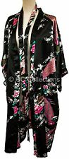 KIMONO lingerie MANY COLOURS Peacock PREMIUM dressing gown Japanese robe black