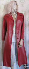 Rare! Vtg *70s GLAM* Rock Hippie 60s 80s Distress Red Leather Jacket Coat