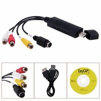 USB 2.0 VHS To DVD Converter Audio Video Adapter Easycap Capture Card US Seller