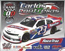 """2014 CARLOS CONTRERAS """"RACE TRAC"""" #23 ATLANTA NASCAR NATIONWIDE SERIES POSTCARD"""