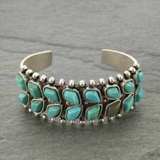 """*NWT* Natural Turquoise """"C"""" Cuff Bracelet 710855089"""